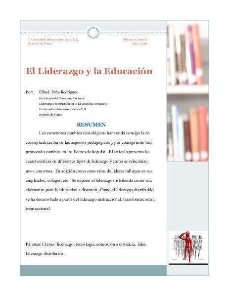 El Liderazgo y la Educacion 1