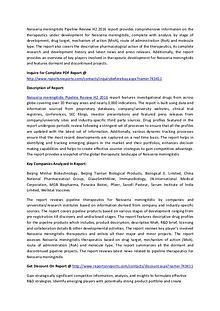 Global Neisseria meningitidis Vaccine Pipeline H2 2016