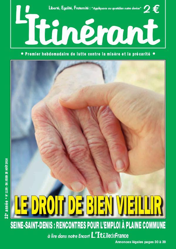 L'Itinérant 1135 Le droit de bien vieillir