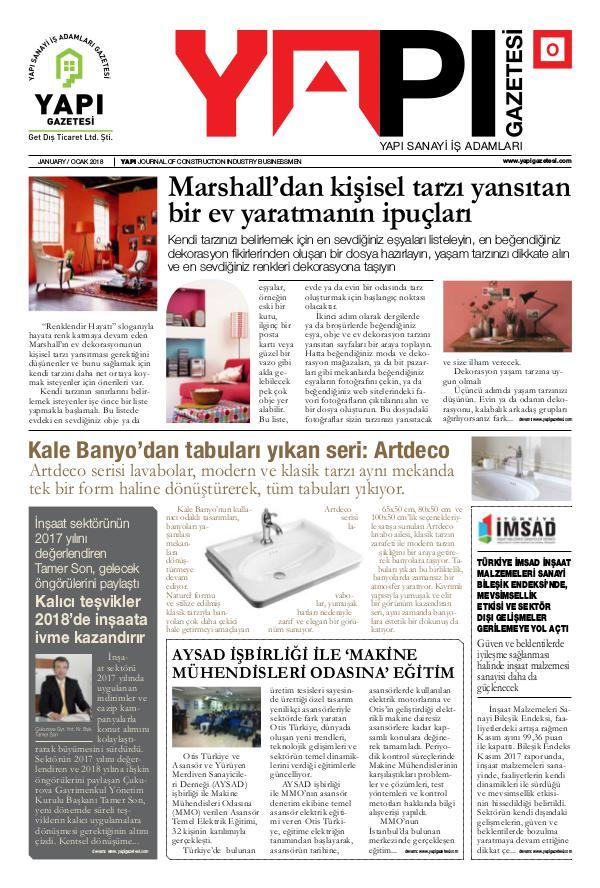 Yapı Gazetesi Sayı 5 - Ocak 2018