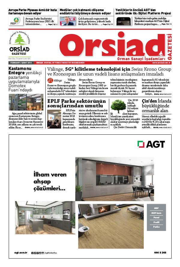 Orsiad Gazetesi Sayı 68 - Şubat 2018