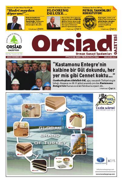 Orsiad Gazetesi Sayı 6 - Aralık 2012