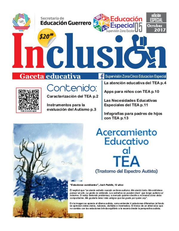 Inclusión. Gaceta Educativa Edición Especial Octubre 2017
