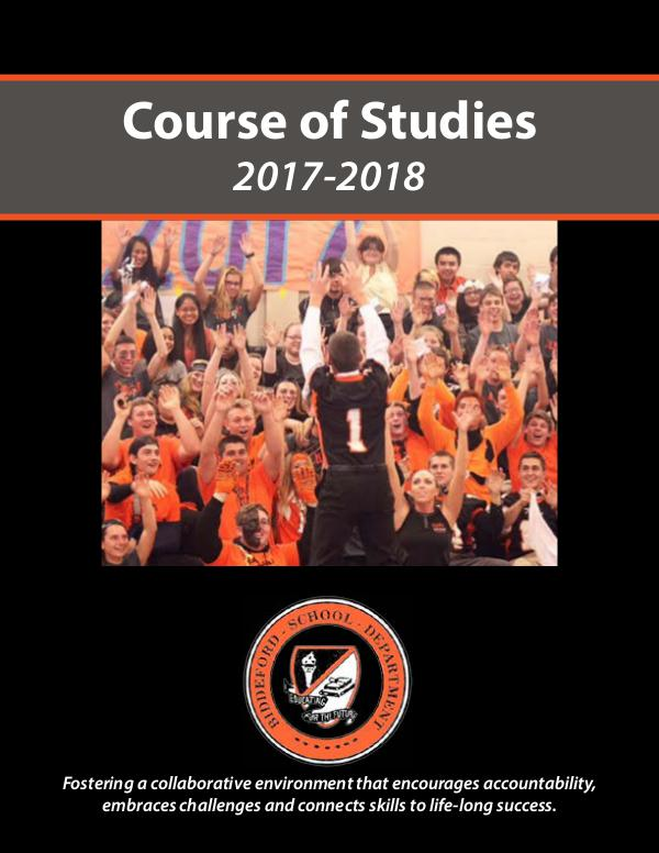 2017-18 BHS/COT Course of Studies Guide 2017-2018