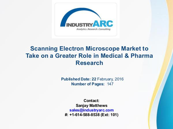Scanning Electron Microscope Market: Structural Information Made Poss Scanning Electron Microscope Market
