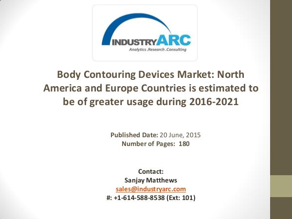 Body Contouring devices market Analysis | IndustryARC Body Contouring devices market Analysis | Industr
