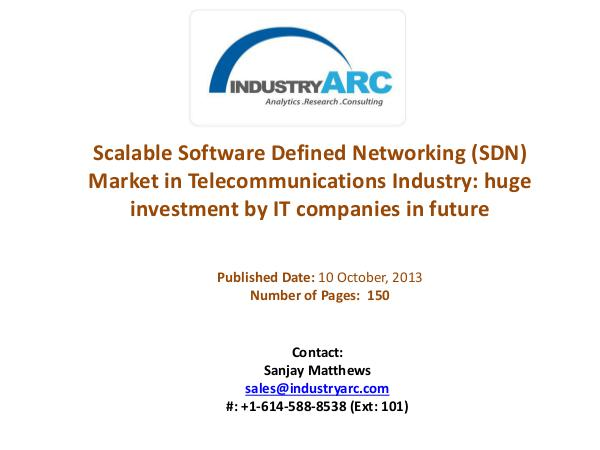 Scalable Software Defined Networking (SDN) Market Analysis | Industry Scalable Software Defined Networking (SDN) Market