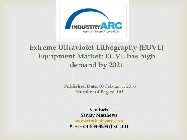 EUVL Equipment Market: rise in utilization of deep UV lithography for Extreme Ultraviolet Lithography (EUVL) Equipment M