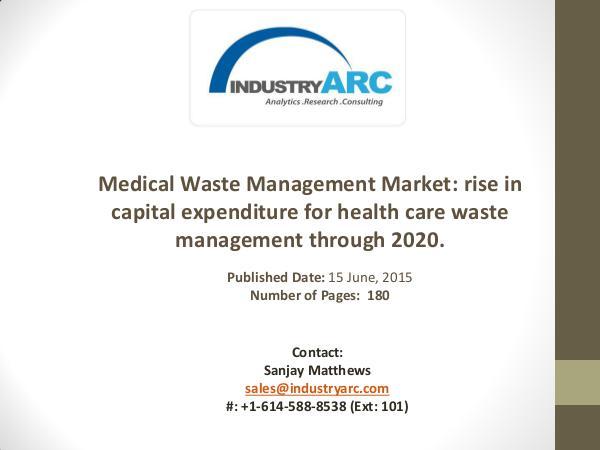 Medical Waste Management Market: efficient hospital waste disposal fo Medical Waste Management Market: huge investment f