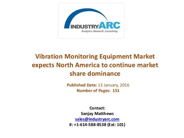 Vibration Monitoring Equipment Market expects North America to contin Vibration Monitoring Equipment Market expects vibr