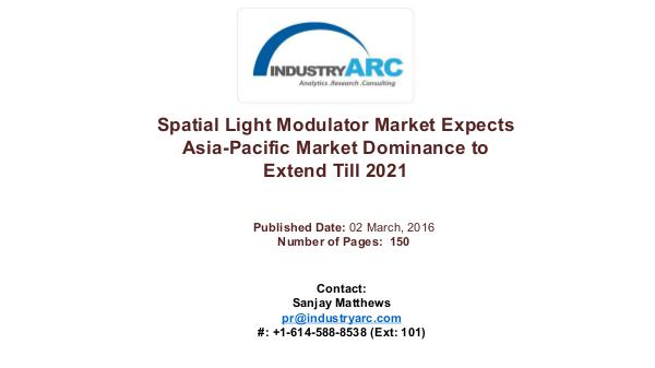Spatial Light Modulator Market Set to Make Advances in Efficiency of Spatial Light Modulator Market Predicts Asia-Pacif