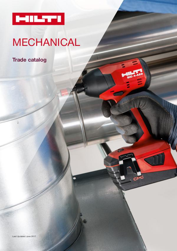 Hilti Catalog Canada Mechanical Summer 2017