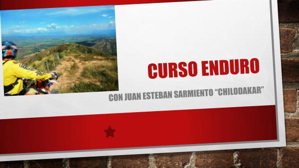 """Juan Esteban Sarmiento """"ChiloDakar"""" Curso enduro con alquiler de moto."""