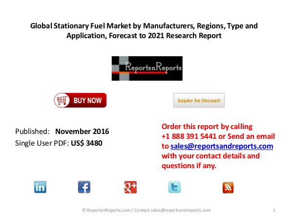 Stationary Fuel Market Key Manufacturers Industry Overview Global Stationary Fuel Market Competitive Analysis