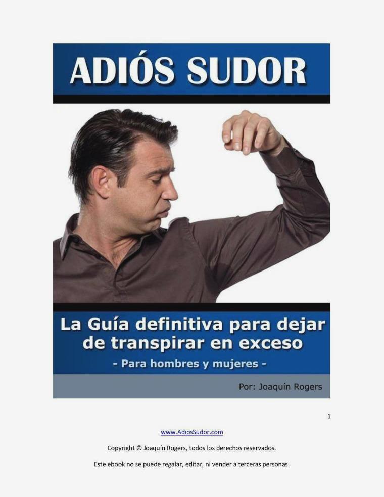 ADIOS SUDOR PDF DESCARGAR COMPLETO 2020