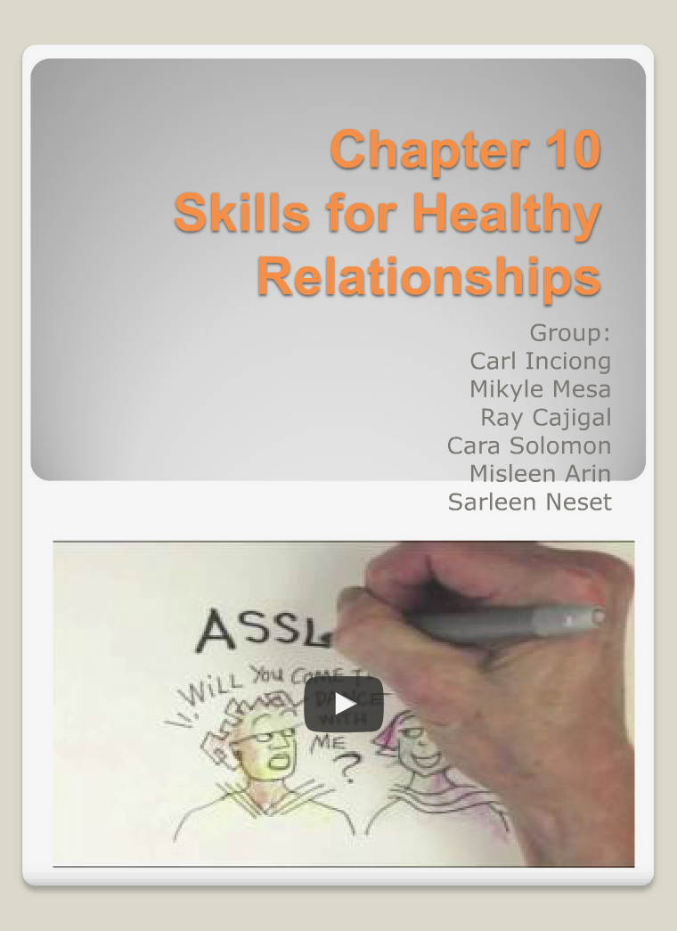 Skills for Healthy Relationships 2