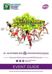BNP Paribas WTA Finals Singapore presented by SC Global Event Guide