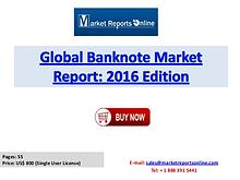 Banknote Industry Report Available at MarketReportsOnline.com