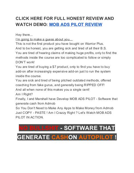 Mob Ads Pilot Review Does It Work?