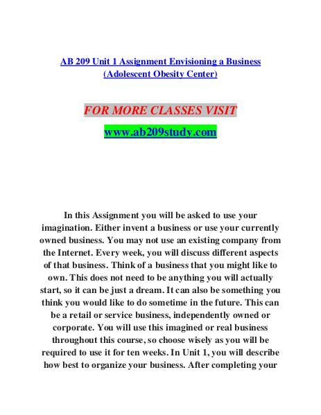unit 209 assignment