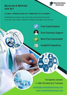 Global Ophthalmology Therapeutics Market size likely to grow at 7.4%