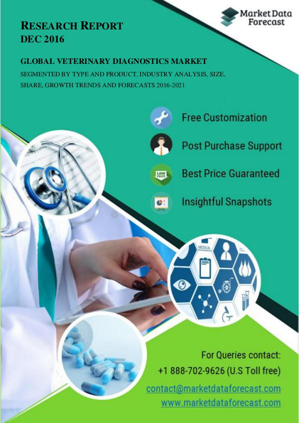 Veterinary Diagnostics Industry Research, Applications, Demands and G Mar.2017
