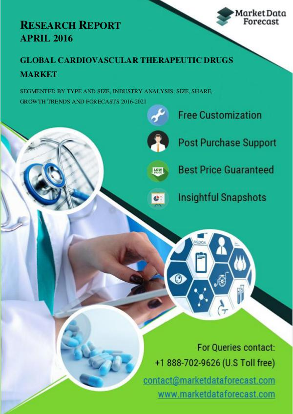 Global Cardiovascular Therapeutic Drugs Market Trends and Key Busines April.2017