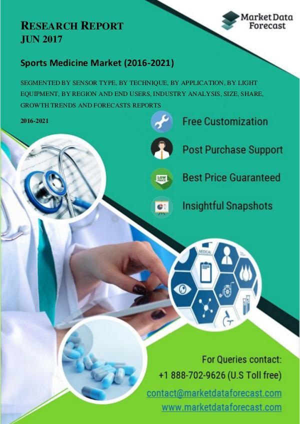 Promising Segment in Global Sports Medicine Market Most Promising Segment in Global Sports Medicine M