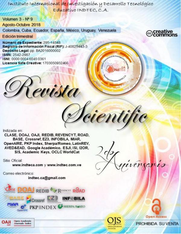 Revista Scientific Volumen 3 / Nº 9 - Agosto-Octubre 2018