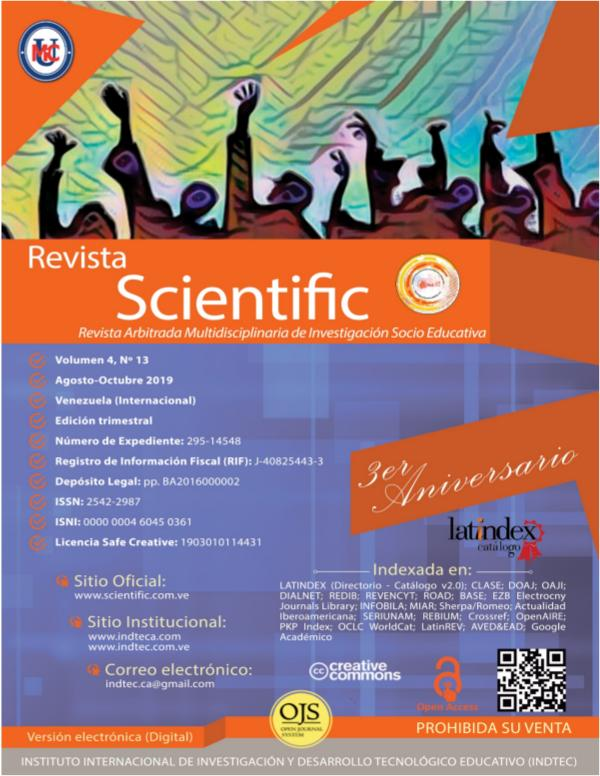 Revista Scientific Volumen 4 / Nº 13 - Agosto-Octubre 2019