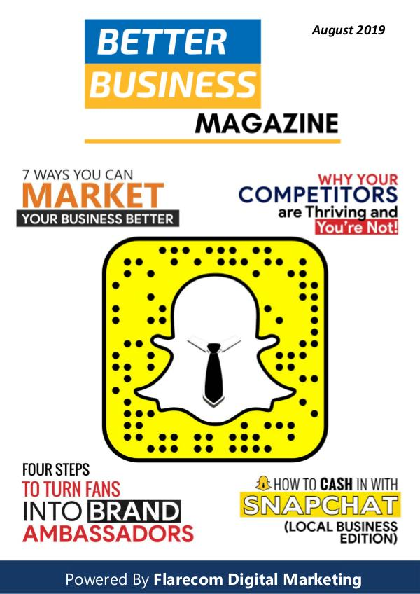 Better Business Magazine - August 2019 August 2019