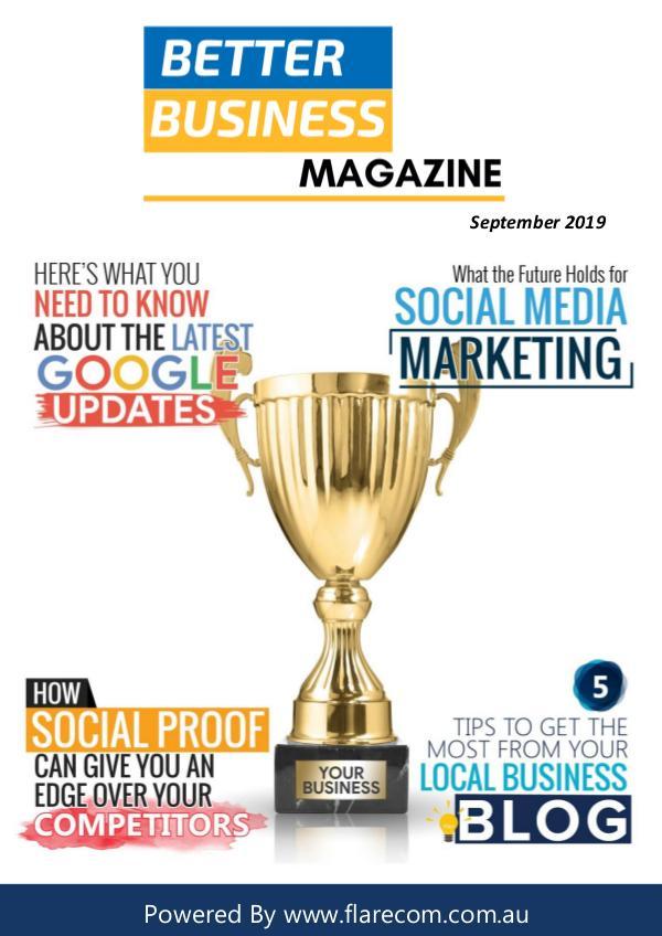 Better Busines Magazine Better Business Magazine - September 2019