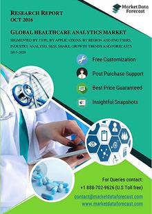 Healthcare Analytics Industry Analysis and Growth Estimates 2015-2020