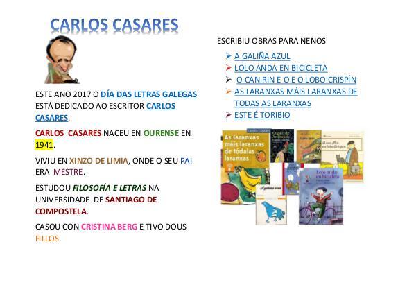 CARLOS CASARES LETRAS GALEGAS -FICHA