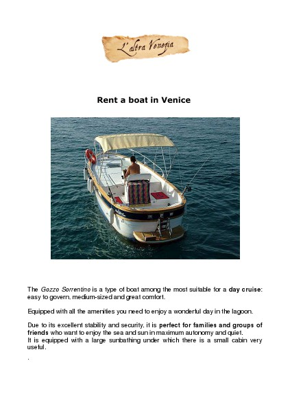 Rent a boat in Venice