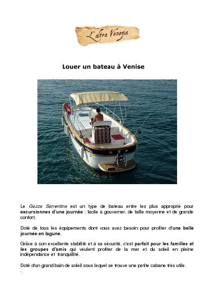 Louer un bateau à Venise
