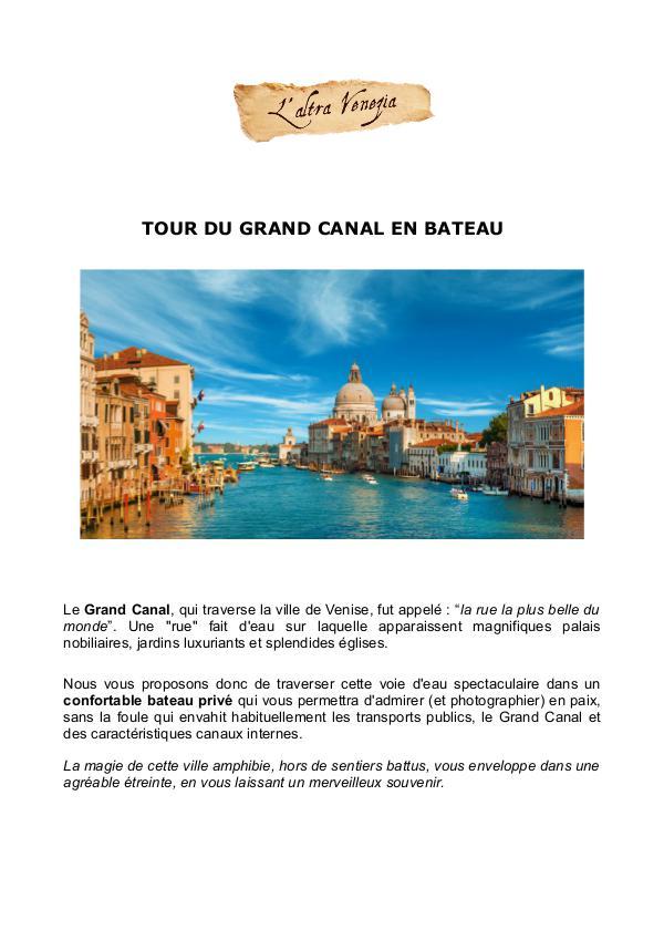 Tour du Grand Canal en bateau