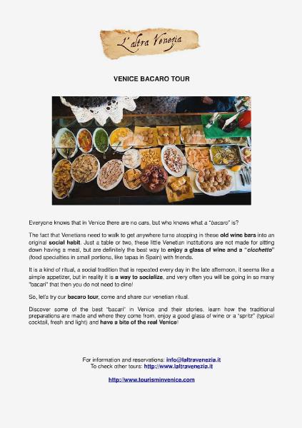 All about Venice Venice bacaro tour