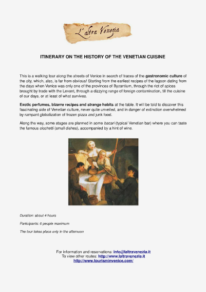 All about Venice Itinerary on the history of the Venetian cuisine