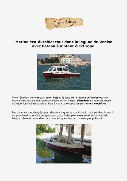 Venise Autrement Tour dans la lagune de Venise en bateau électrique