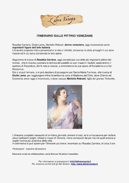 Venezia Altrimenti Itinerario sulle pittrici veneziane