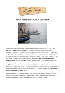 Venezia Altrimenti Tour fotografico a Venezia