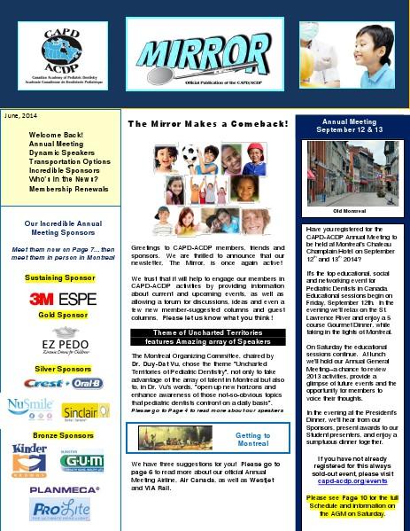 The Mirror, CAPD's Newsletter, June 2014 June, 2014