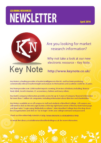 Learning Resources Newsletter April 2014