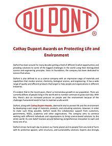 Cathay Dupont Award on Protecting Life and Environment