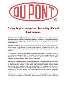 Cathay Dupont Award on Protecting Life and Environment