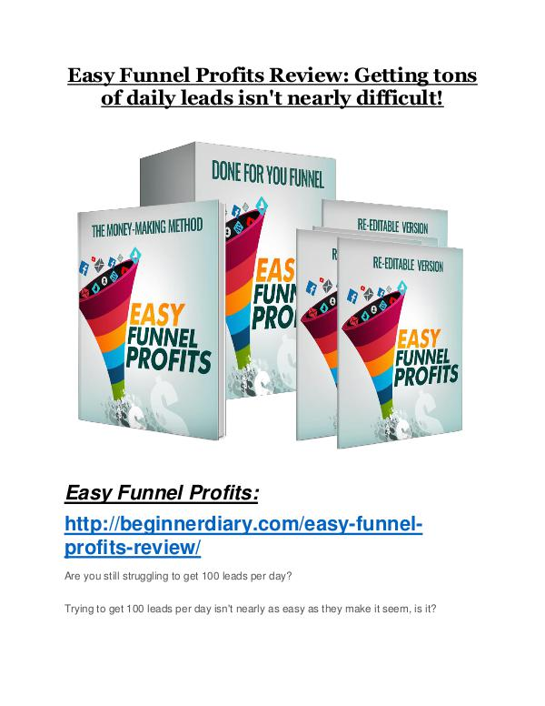 MarketingEasy Funnel Profits TRUTH review and EXCLUSIVE $25000 BONUS Easy Funnel Profits review & huge +100 bonus items