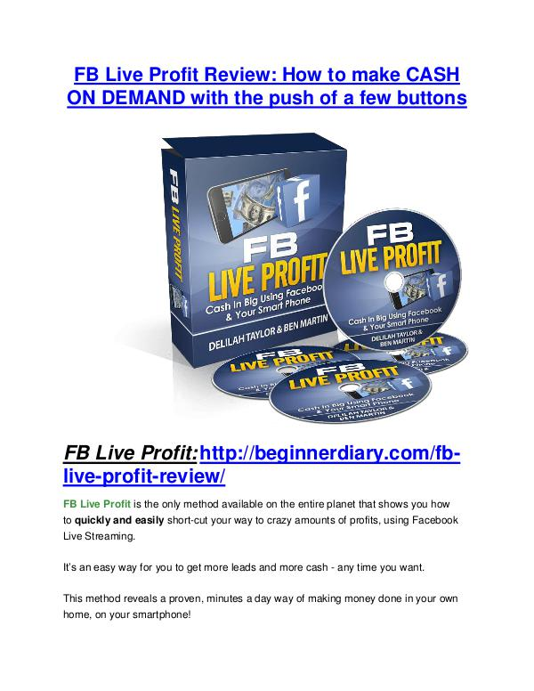 FB Live Profit review - A top notch weapon FB Live Profit Review-(Free) bonus and discount