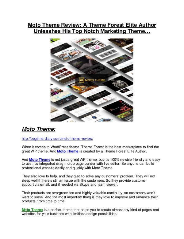 Moto Theme review - EXCLUSIVE bonus of Moto Theme Moto Theme review pro-$15900 bonuses (free)