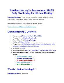 Lifetime.Hosting 2 review and sneak peek demo Lifetime.Hosting 2 review - Lifetime.Hosting 2 (MEGA) $23,800 bonuses